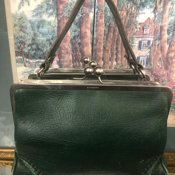 Burberry Handbags - Vintage Green Burberry Women Handbag